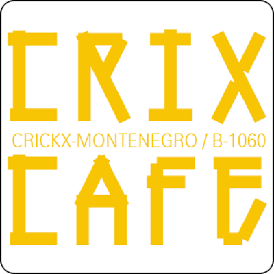 logo crixcafe yellow